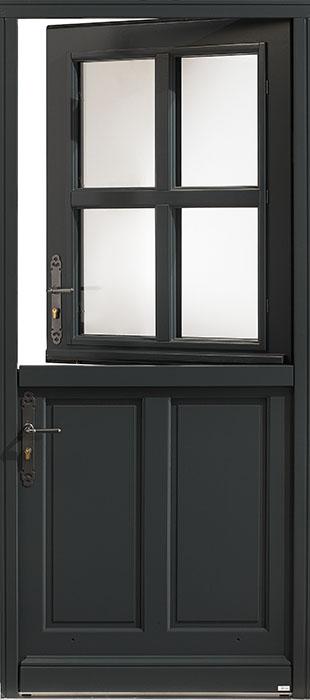 La porte d'entrée de style campagne en RAL 7016 Sancerres de Zilten