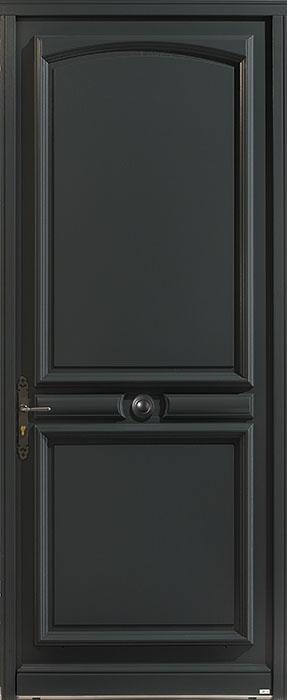 La porte d'entrée de style rustique RAL 7016 Prades de Zilten