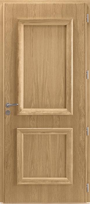 La porte d'entrée de style classique Ral 7035, intérieur chêne  Coscu-Duo de Zilten
