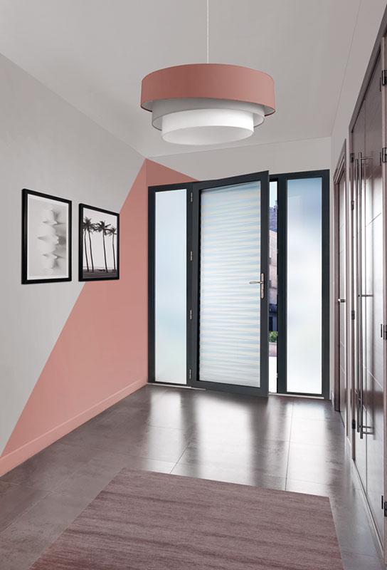 La porte d'entrée de style loft en bleu 2700 texturé Candel-78 de Zilten