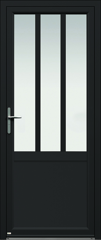 Porte d'entrée aluminium contemporaine Zilten Candel 98