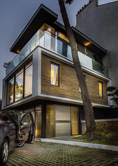 Porte moderne en bois  red cedar Zilten Nativ Fusion 9