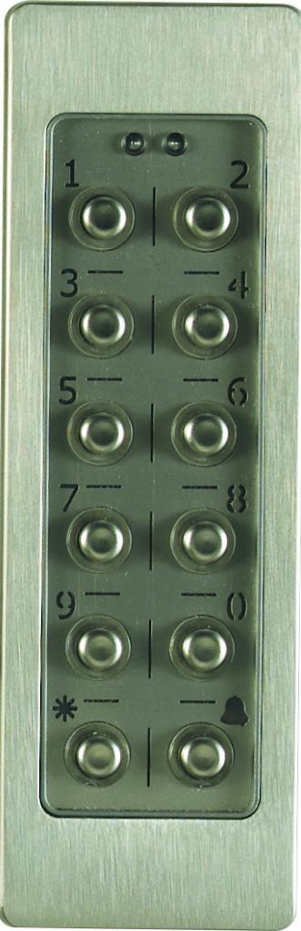 Clavier à code pour le déverrouillage de la porte d'entrée